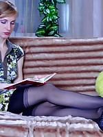 All dolled-up sissy guy sweet-talks a girl into screwing him with a strapon