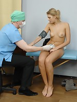 Blondie undressed and examined the most perverted way